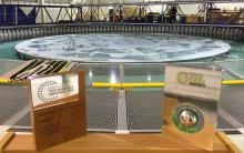 Innovation Awards placed in front of the FloWave tank